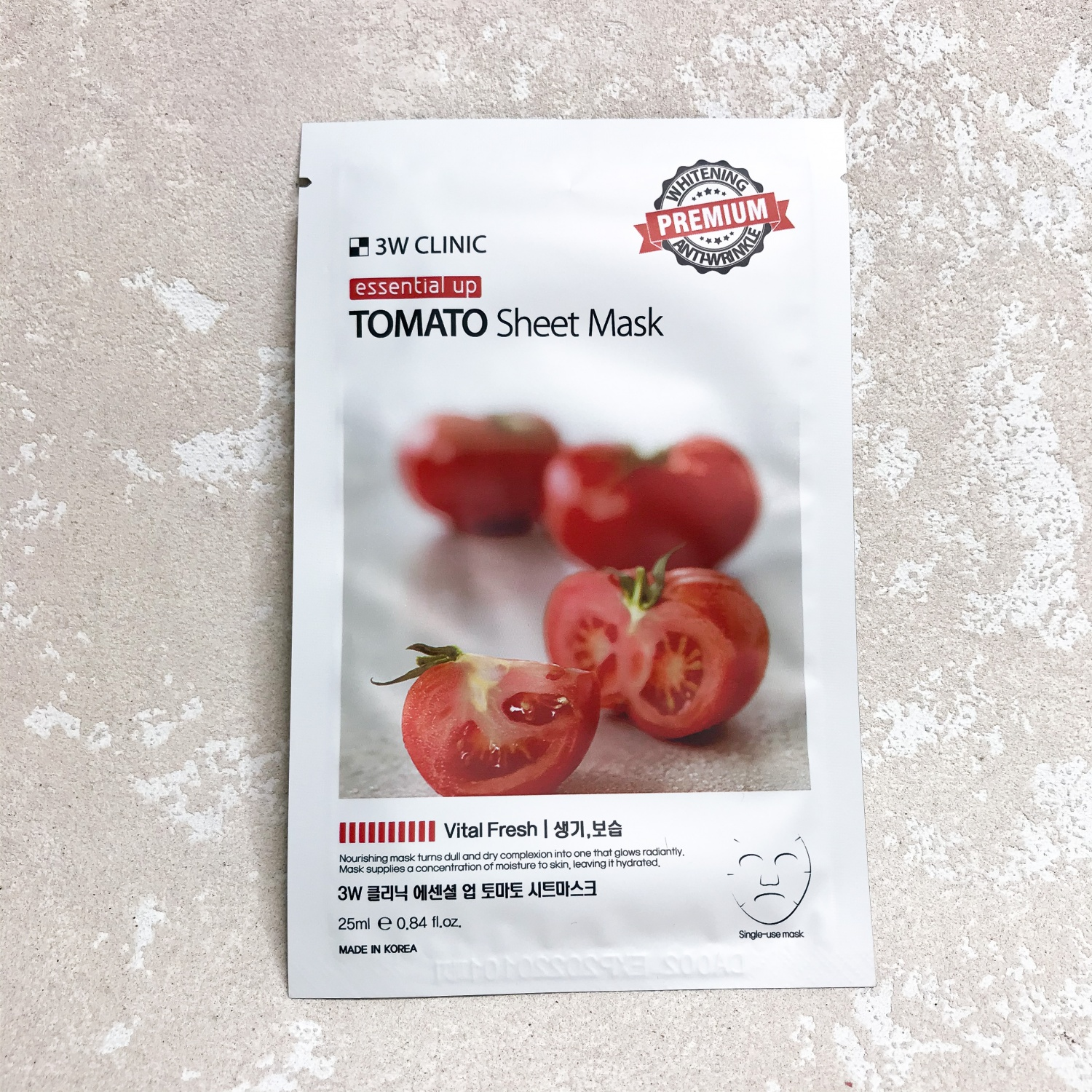 3W Clinic Essential Up Tomato Sheet Mask