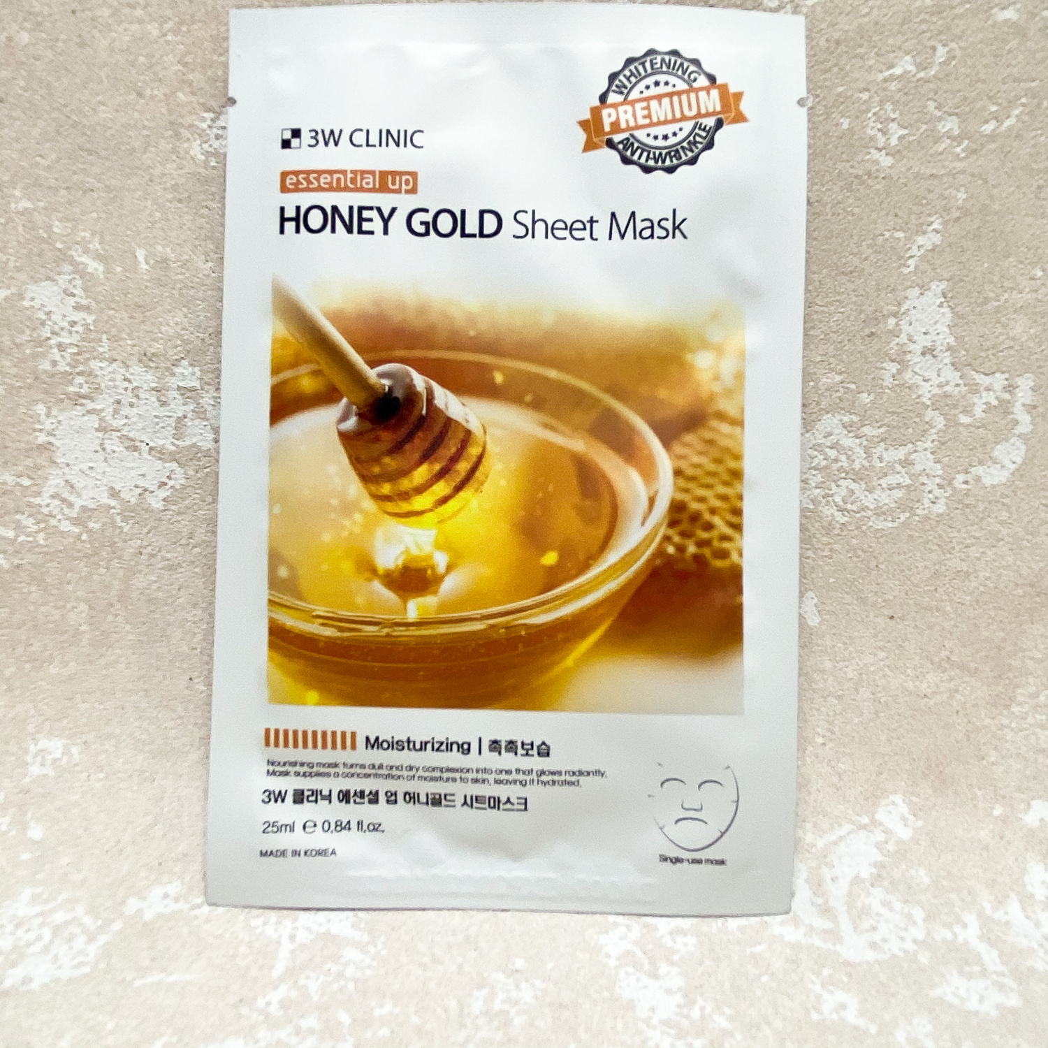 3W CLINIC Essential Up Honey Gold Sheet Mask