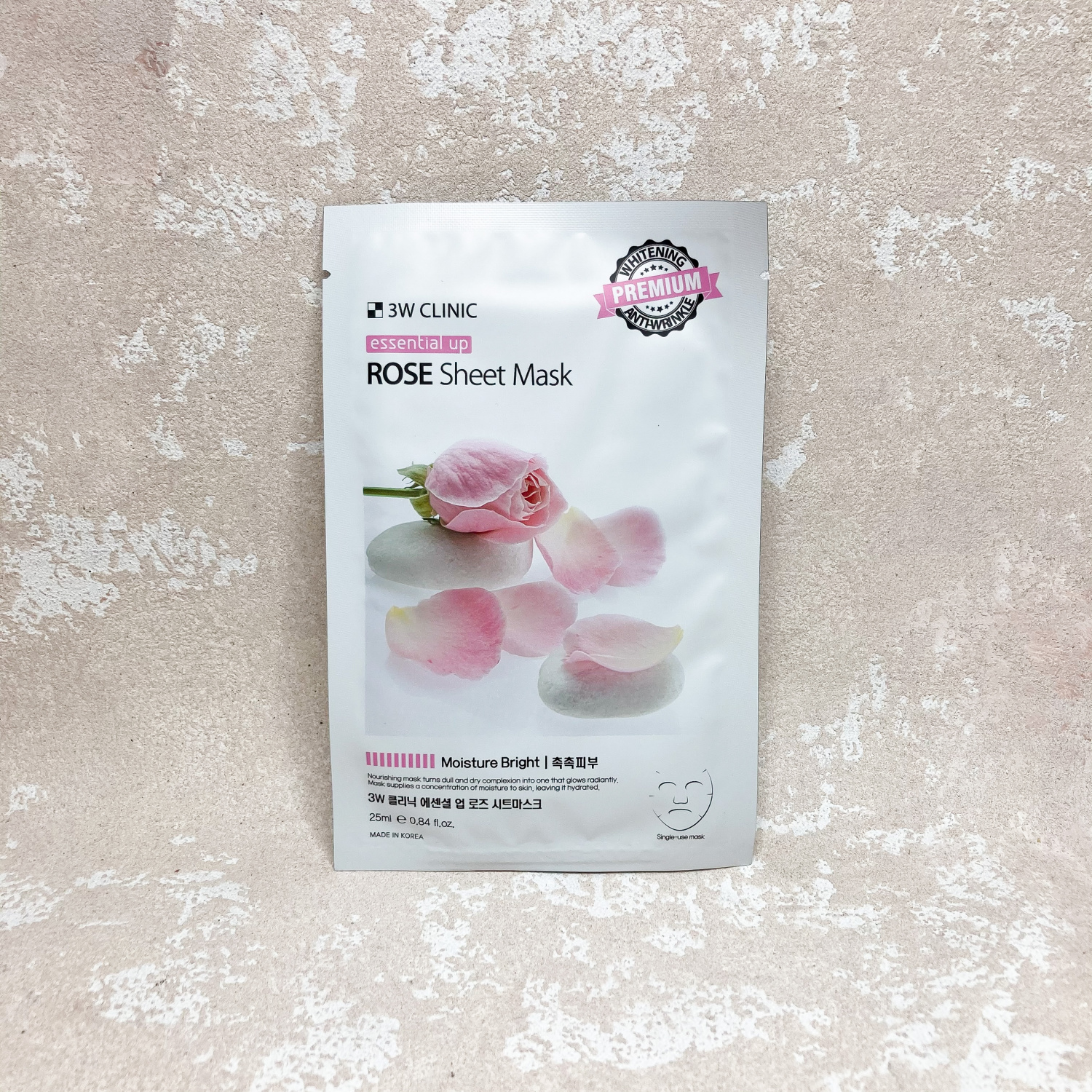 3W Clinic Essential Up Rose Sheet Mask