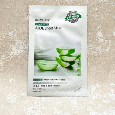 3W CLINIC Essential Up Aloe Sheet Mask